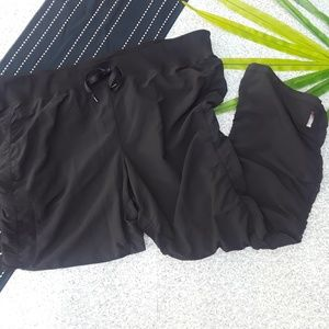 {Zella} Black Ruched Drawstring Ankle Pants 22W